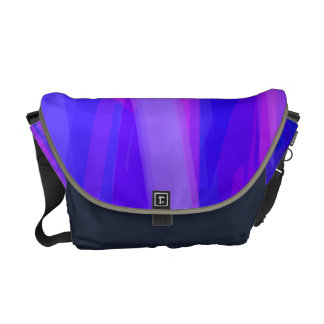 Abstract Ribbons of Blue and Violet Messenger Bag