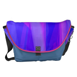 Abstract Ribbons of Blue and Violet Messenger Bags