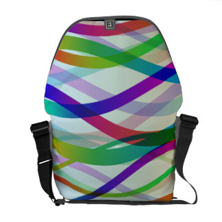 Abstract Ribbons of Colors Courier Bag