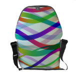 Abstract Ribbons of Colors Courier Bags