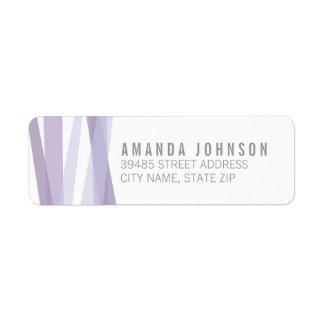 Abstract Ribbons Return Address Label - Purple