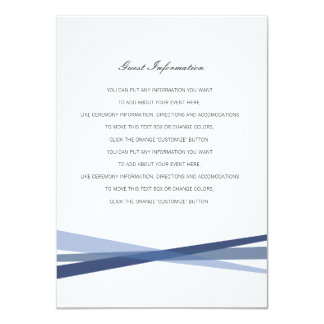 Abstract Ribbons Wedding Insert Card
