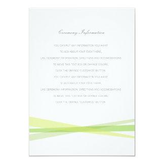 Abstract Ribbons Wedding Insert Card - Green