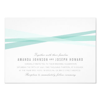 Abstract Ribbons Wedding Invite