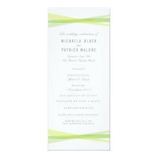 Abstract Ribbons Wedding Program - Green Card