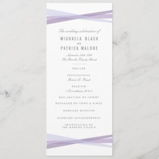 Abstract Ribbons Wedding Program - Purple