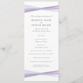 Abstract Ribbons Wedding Program - Purple