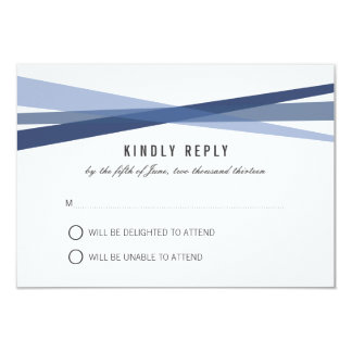 Abstract Ribbons Wedding Response Card