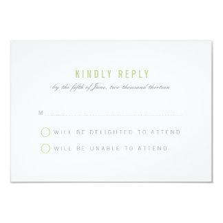 Abstract Ribbons Wedding Response Card - Green