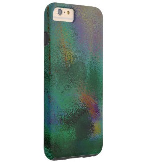 ABSTRACT/RICH DARK COLORS /GREENS,PURPLES, BLUES, TOUGH iPhone 6 PLUS CASE