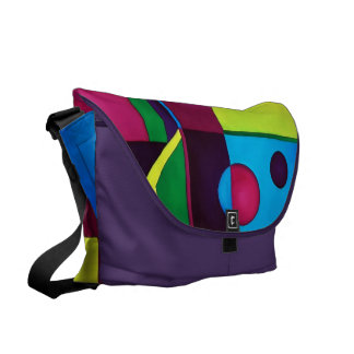 Abstract Rickshaw Bag Courier Bags