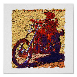 Abstract Rider Poster
