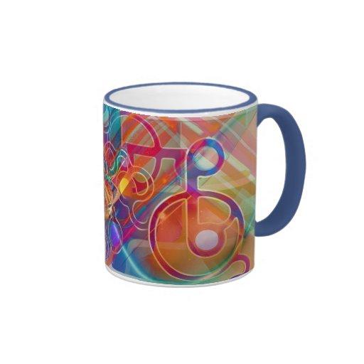 abstract ringer coffee mug