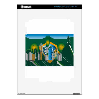abstract Rio skyline Decals For iPad 3