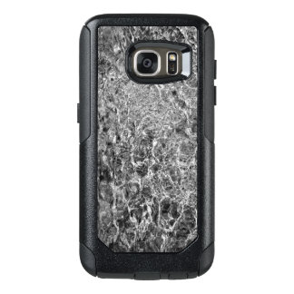 Abstract Rippling River Water, Black & White Photo OtterBox Samsung Galaxy S7 Case