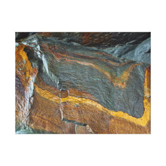 Abstract rock art canvas print