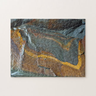 Abstract rock art jigsaw puzzle