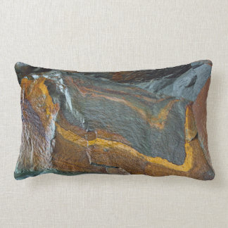 Abstract rock art lumbar pillow