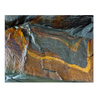 Abstract rock art postcard