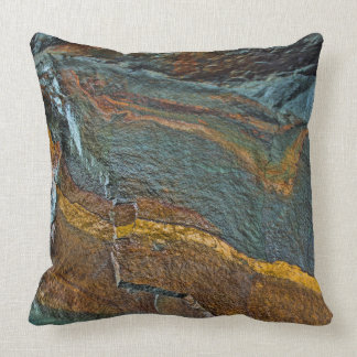 Abstract rock art throw pillow