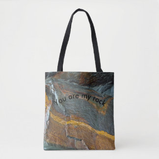 Abstract rock art tote bag