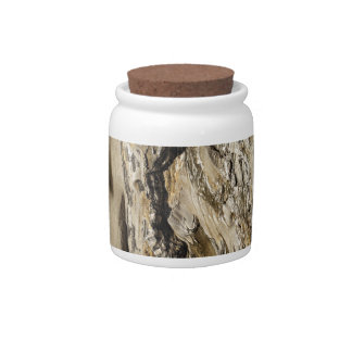 Abstract rock. candy jar