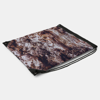 abstract rock cliff surface texture drawstring bag