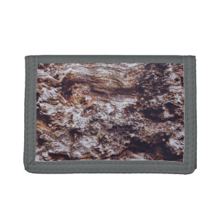 abstract rock cliff surface texture tri-fold wallet