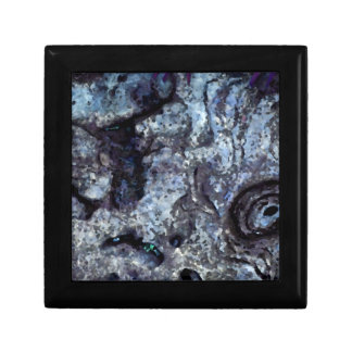 abstract rock pattern blue swirl design gift box