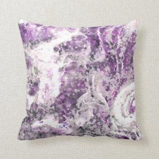 abstract rock pattern purple pillow