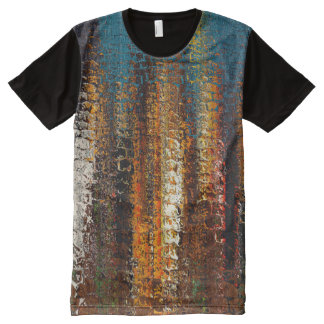 Abstract Rock Spires All-Over Printed Panel Tee