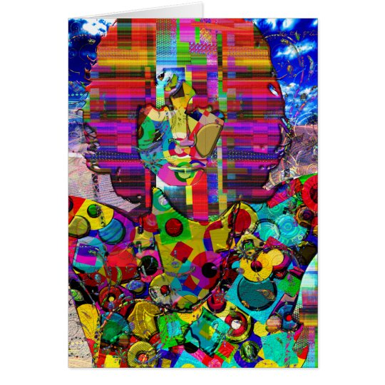Abstract Rock Star Portrait Card