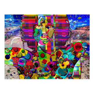 Abstract Rock Star Portrait Postcard
