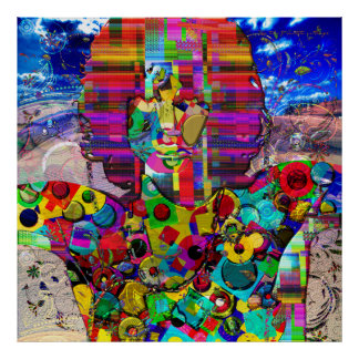 Abstract Rock Star Portrait Poster
