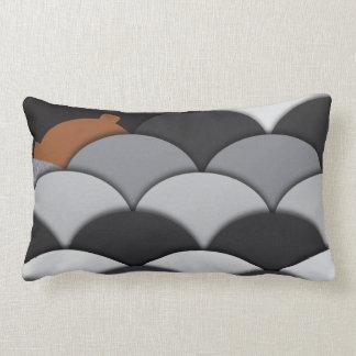 Abstract Rocks and Bear Throw Pillows