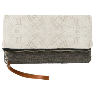 Abstract Roman Numeral Clutch