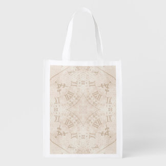 Abstract Roman Numeral Reusable Grocery Bag