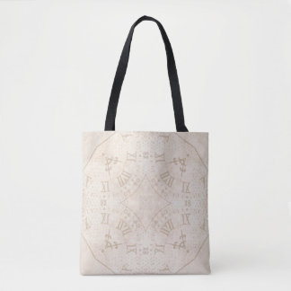 Abstract Roman Numeral Tote Bag