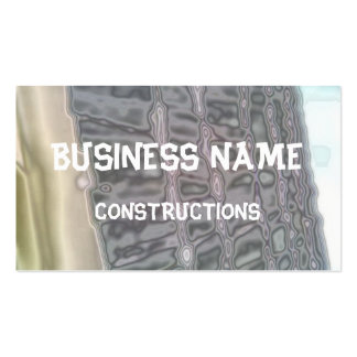Abstract roof tiles pattern business card