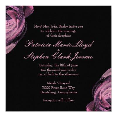 Abstract Rose 2 Wedding Invitations