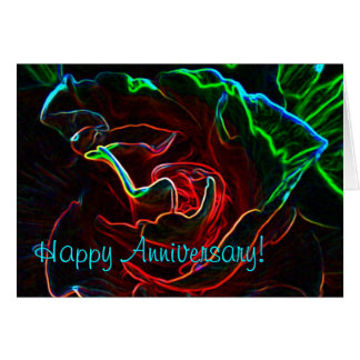 Abstract Rose anniversary card