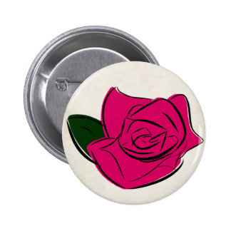 Abstract rose | Badge Pinback Button