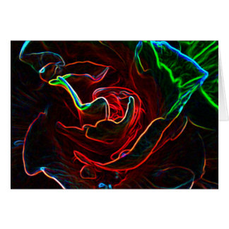 Abstract Rose blank notelet / card