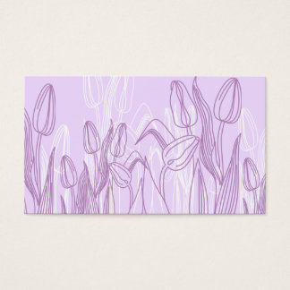 Abstract Rose Buds Business Card