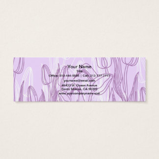Abstract Rose Buds Mini Business Card