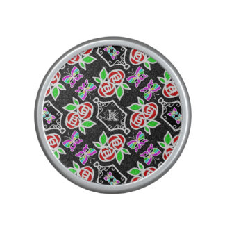 Abstract Rose Butterfly pattern personalizable Bluetooth Speaker