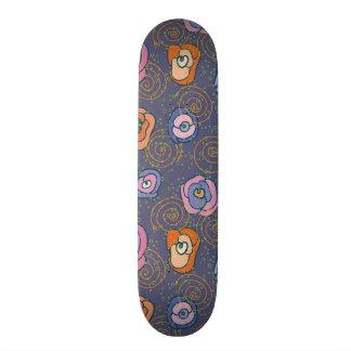 Abstract rose field pattern skateboard
