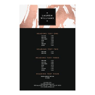 Abstract Rose Gold Brushstrokes on White Flyer