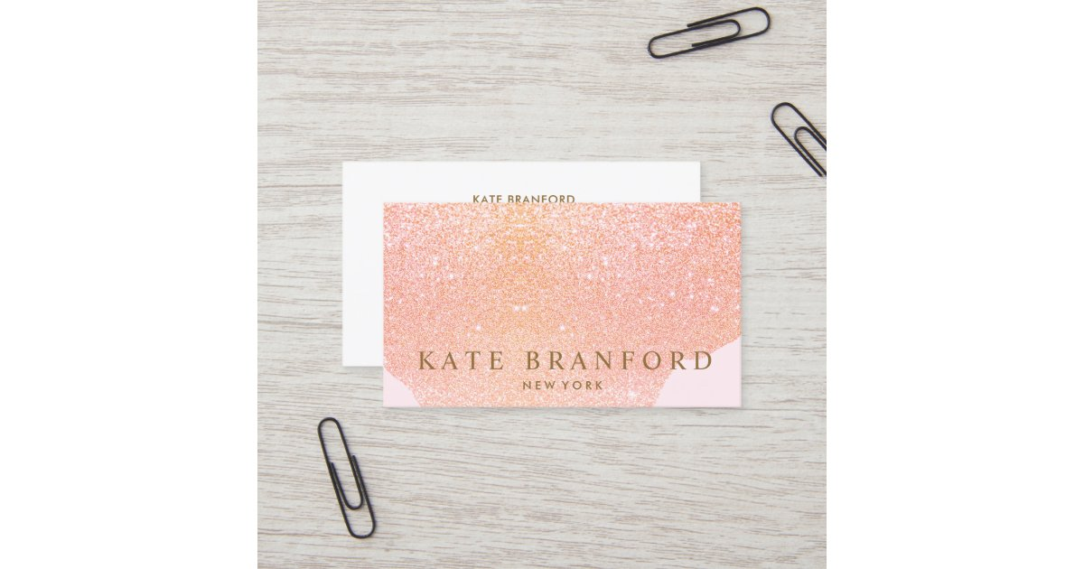 Abstract Rose Gold Glitter Rose Gold Beauty Salon Business