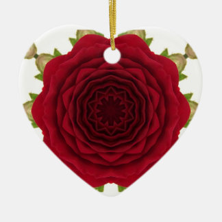 Abstract Rose Hear Ornament